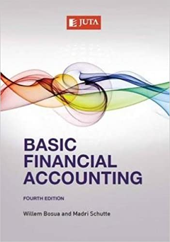 Basic Financial Accounting 4th Edition by Willem Bosua, ISBN-13: 978-1485102786