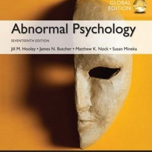 Abnormal Psychology 17th GLOBAL Edition by Jill M. Hooley