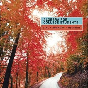 Algebra for College Students 9th Edition