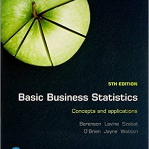 Basic Business Statistics Concepts and Applications 5th Edition