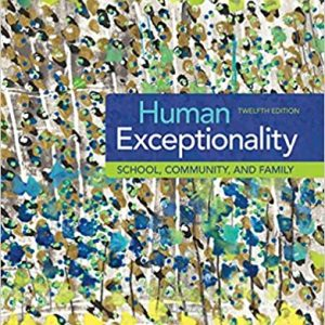 Human Exceptionality School Community and Family 12th Edition
