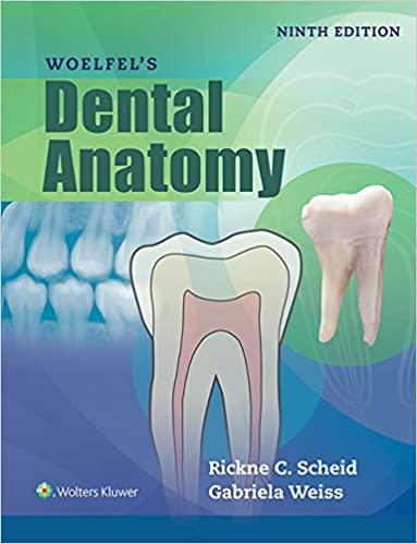 Woelfel's Dental Anatomy 9th Edition by Rickne C. Scheid