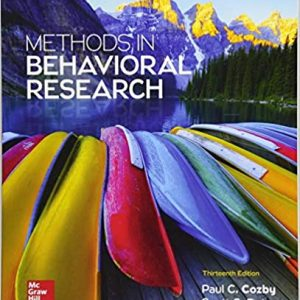 Methods in Behavioral Research 13th Edition by Paul Cozby