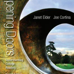 Opening Doors Understanding College Reading by Janet Elder