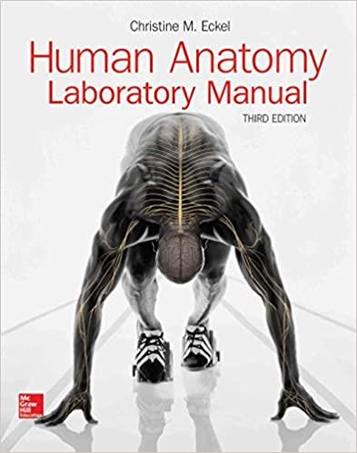 Human Anatomy Lab Manual 3rd Edition by Christine Eckel, ISBN-13: 978-1259872686